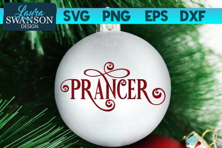 Reindeer Prancer SVG Cut File   Christmas Ornament SVG example image 1