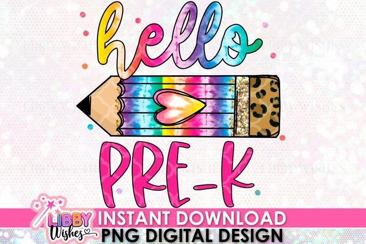 Hello pre-k Sublimation design