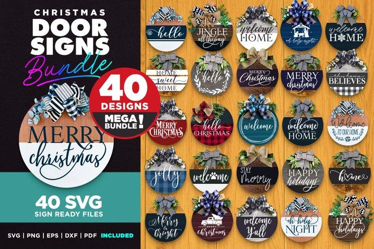 40 Door Signs Bundle | Christmas SVG | SVG Bundle