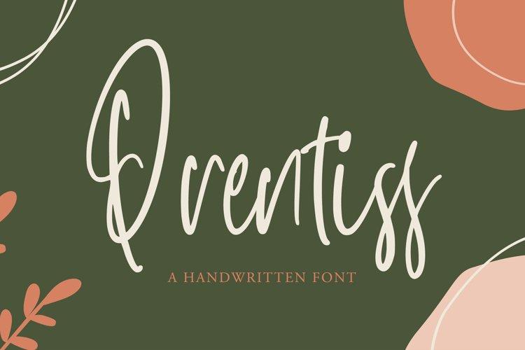 Prentiss - Handwritten Font example image 1