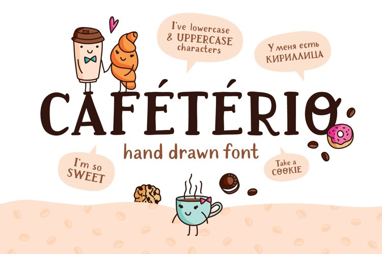 Cafeterio cute kid's font example image 1