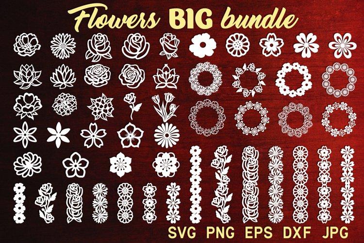 Flower svg bundle Flower svg Floral wreath svg Summer svg