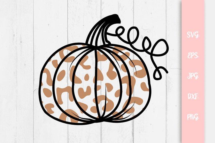 Leopard Pumpkin For Autumn, Fall SVG File