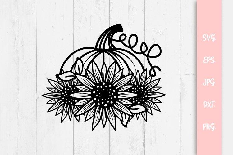 Sunflower Pumpkin SVG File