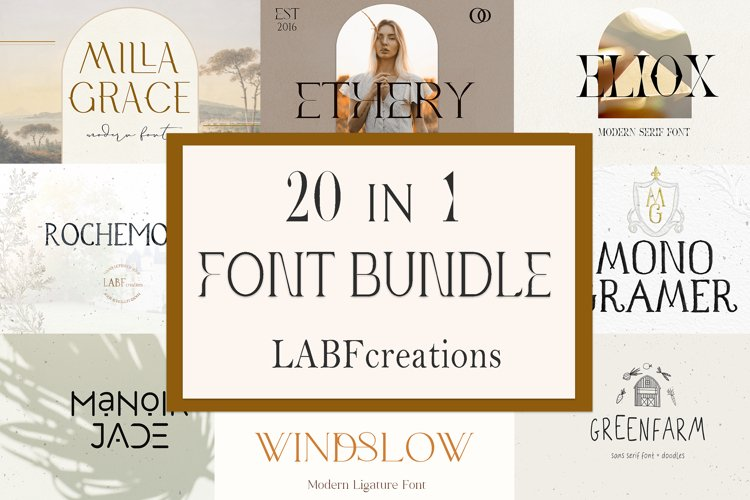 Font Bundle LABFcreations. example image 1