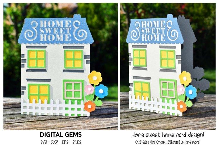 Home sweet home card design. SVG file