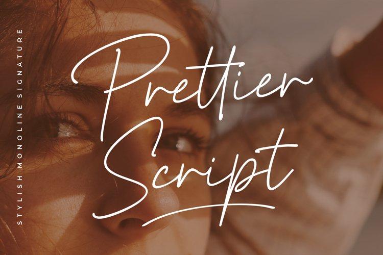 Prettier Script - Stylish Monoline example image 1