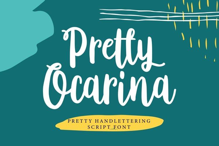 Web Font Pretty Ocarina - Pretty Handlettering Script Font example image 1