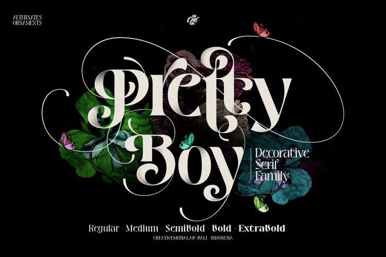 Pretty Boy - Decorative Serif family example image 1