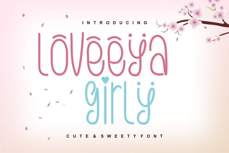 Loveeya Girly Font example image 1