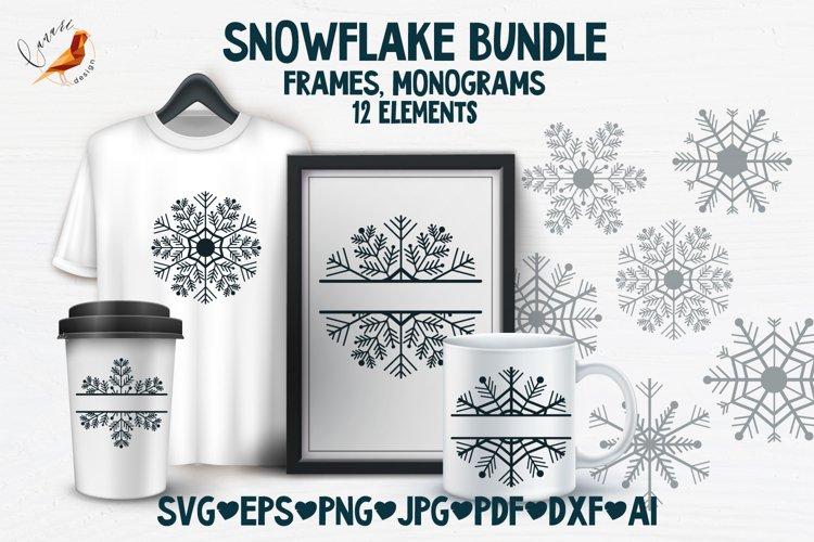 Snowflake SVG and Christmas frames SVG collection