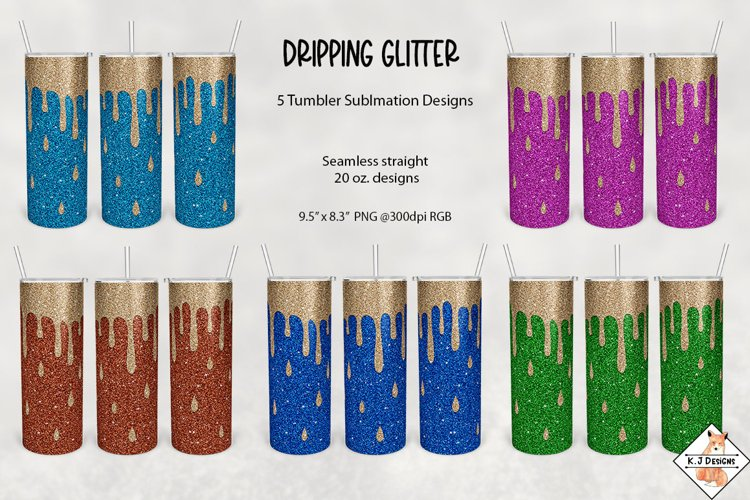 Sublimation Tumblers - Dripping Glitter
