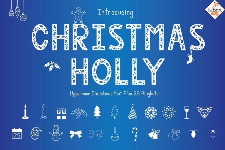 Christmas Holly - Font & Dingbats