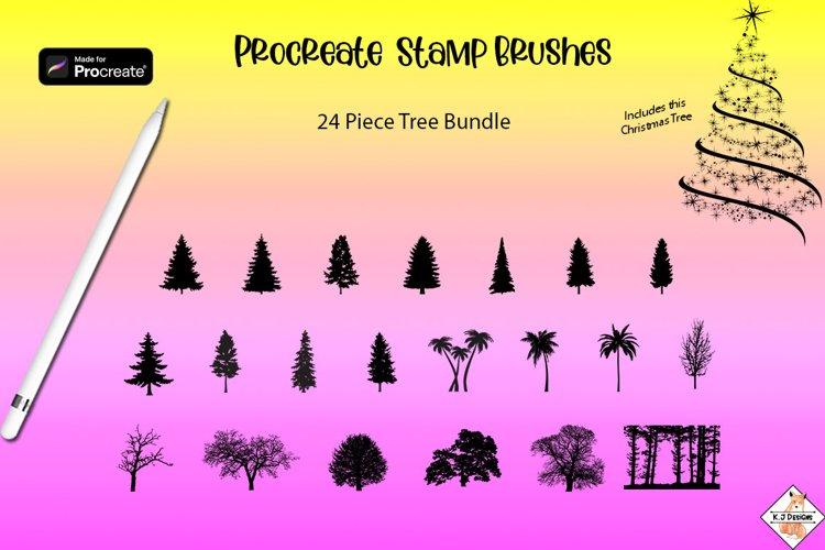 Procreate Tree Stamp Brushes