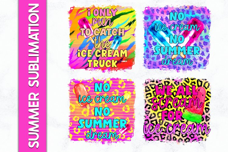 Summer Sublimation Bundle Ice cream Sublimation Bundle