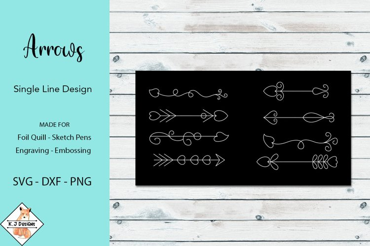 Arrows SVG for Foil Quill|Single line Designs