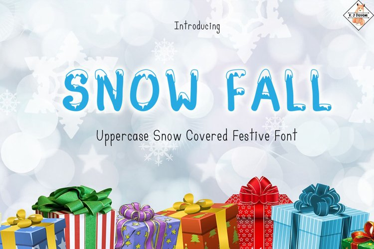 Snow Fall - Snow Covered Font