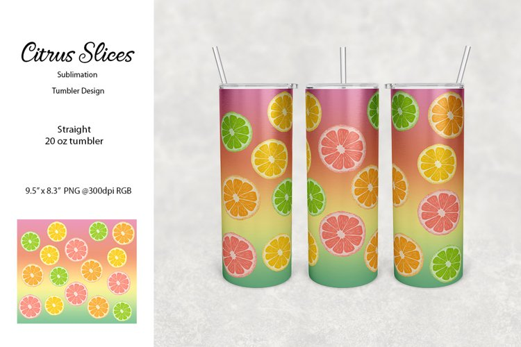 Sublimation Tumbler - Citrus Slices