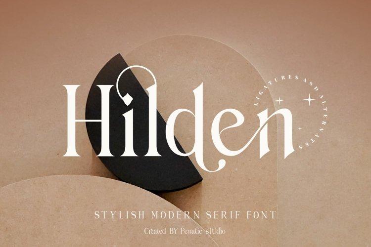 Hilden - stylish modern serif font example image 1