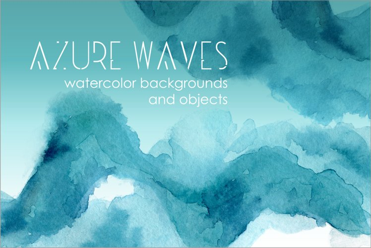 Watercolor Backgrounds Azure Waves