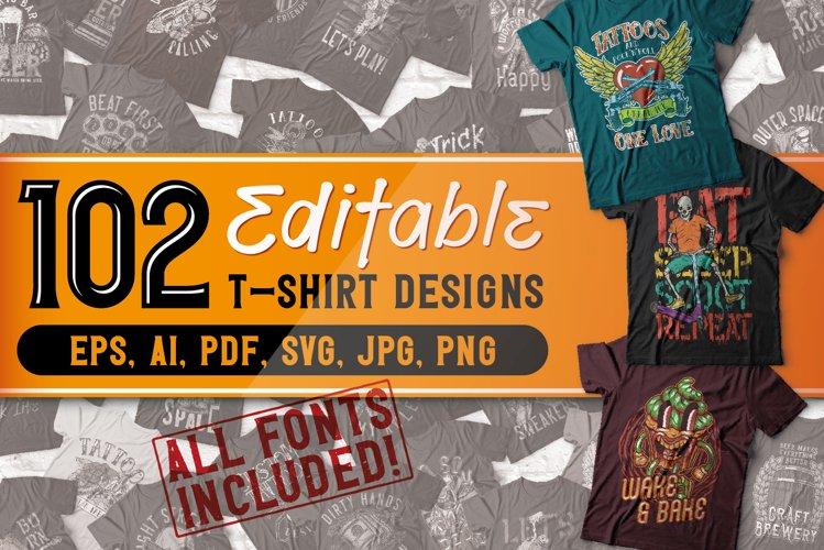 102 Editable t-shirts BUNDLE