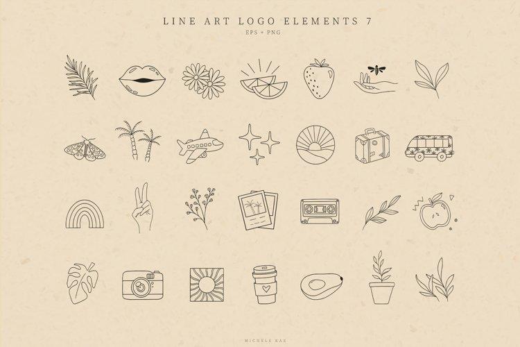 Retro Logo Elements, Logo Design, Icons, Illustrations example image 1