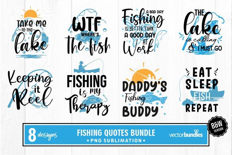 Sublimation fishing quotes bundle example image 1