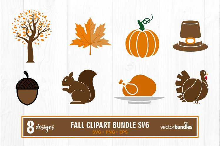 Fall autumn clipart bundle svg example image 1
