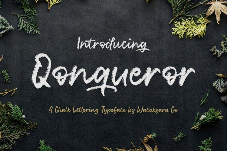 Qonqueror Typeface example image 1