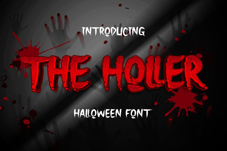 The Holler a Halloween Font example image 1