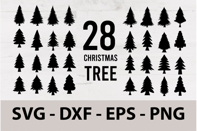 Christmas Tree Silhouette SVG Bundle Printable files