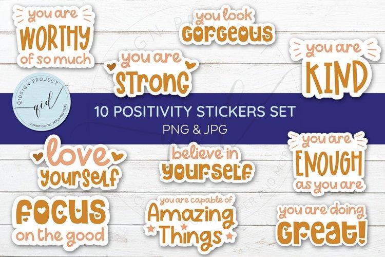 10 Positivity Stickers Set