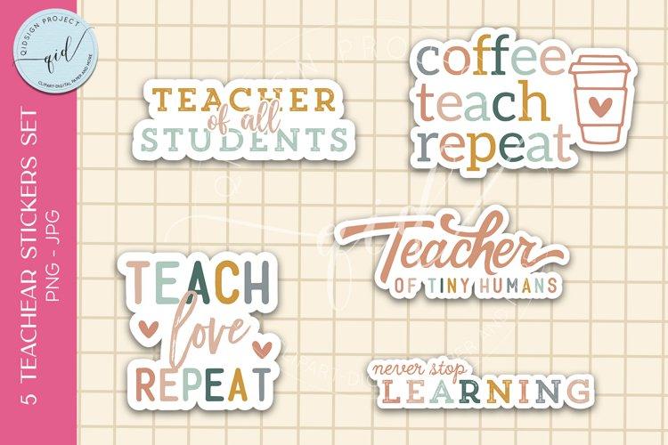 5 Teacher Stickers Set