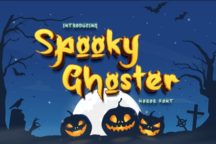 Spooky Ghoster a Horor Font example image 1