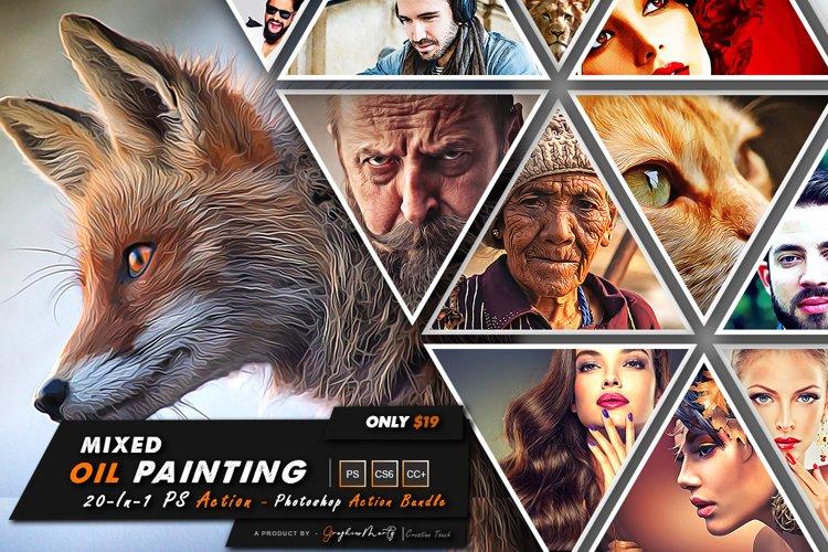 Mixed Oil Pantng Photoshop Action Bundle