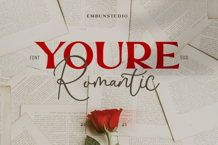 Youre Romantic - a font Duo example image 1