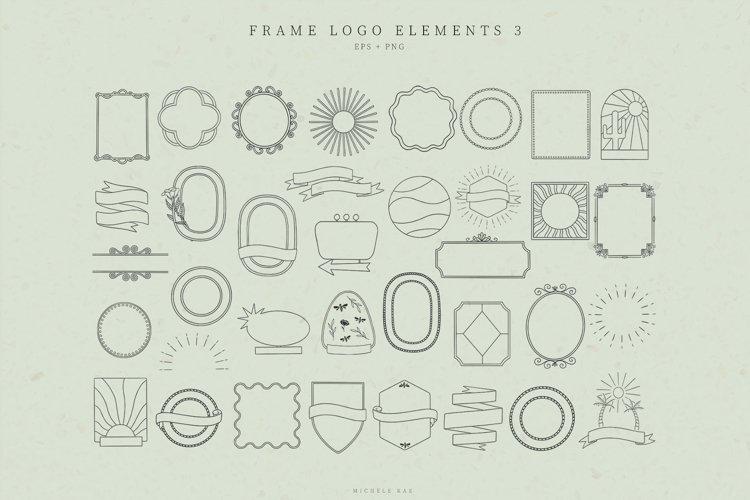 Retro Frame Logo Elements, Logo Design, Business cards example image 1