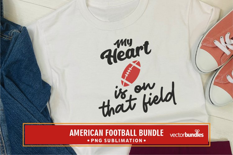 My heart is on that field american football quote png example image 1