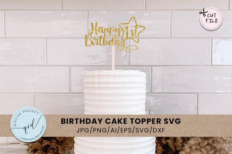 Birthday Cake Tropper SVG