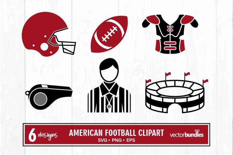 American football clipart bundle svg example image 1