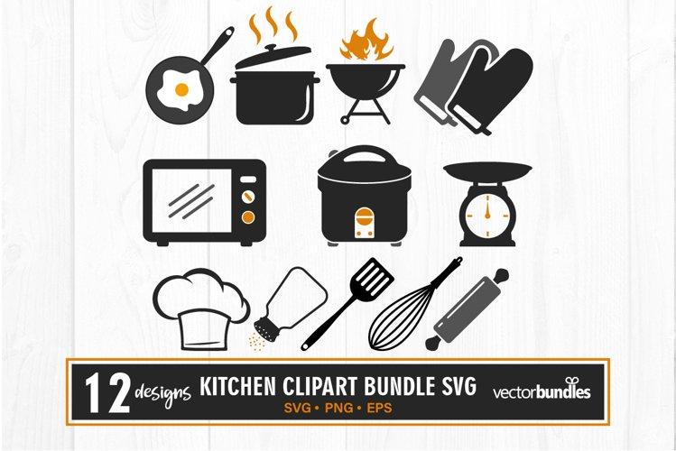 Kitchen clipart bundle svg