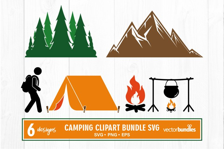 Camping clipart bundle svg example image 1
