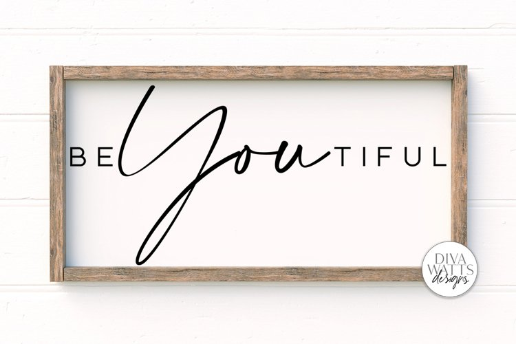BeYOUtiful SVG | Modern Farmhouse Sign | DXF and More example image 1