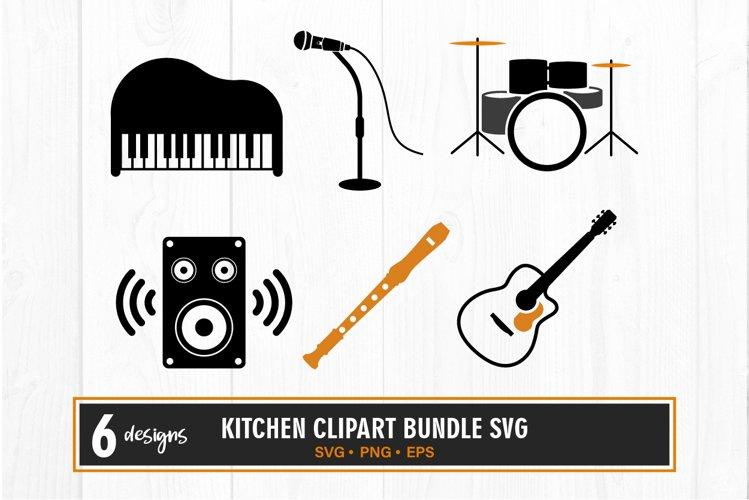 Music instrument clipart bundle svg