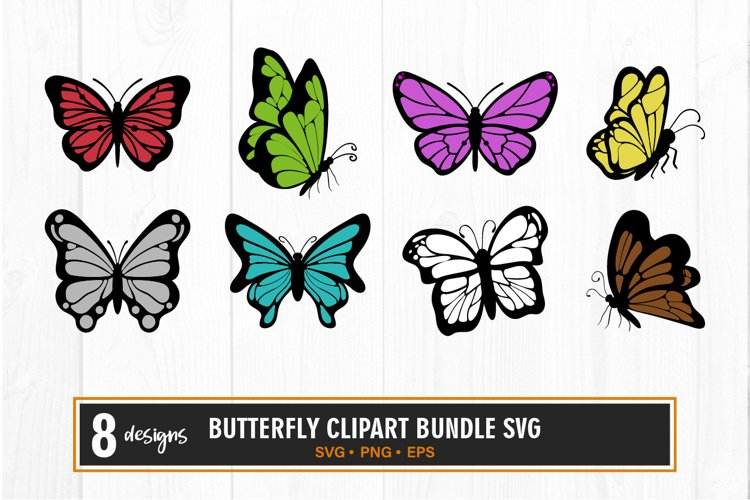 Butterfly clipart bundle svg example image 1