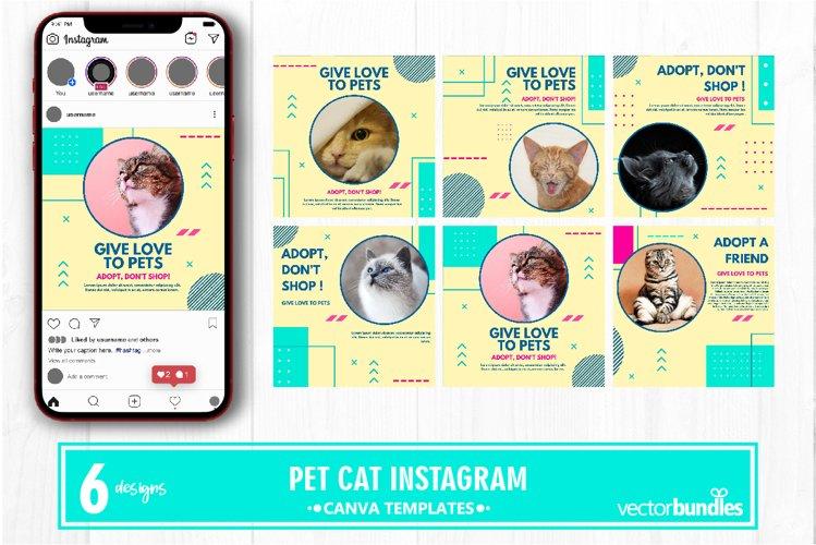 Pet cat instagram post canva template example image 1