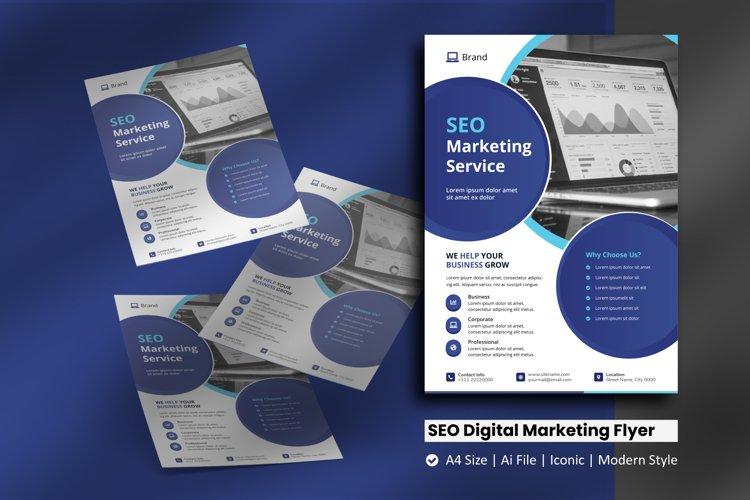 SEO Digital Marketing Flyer Template example image 1