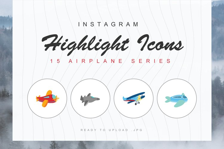 15 Airplanes Instagram Highlight Cover
