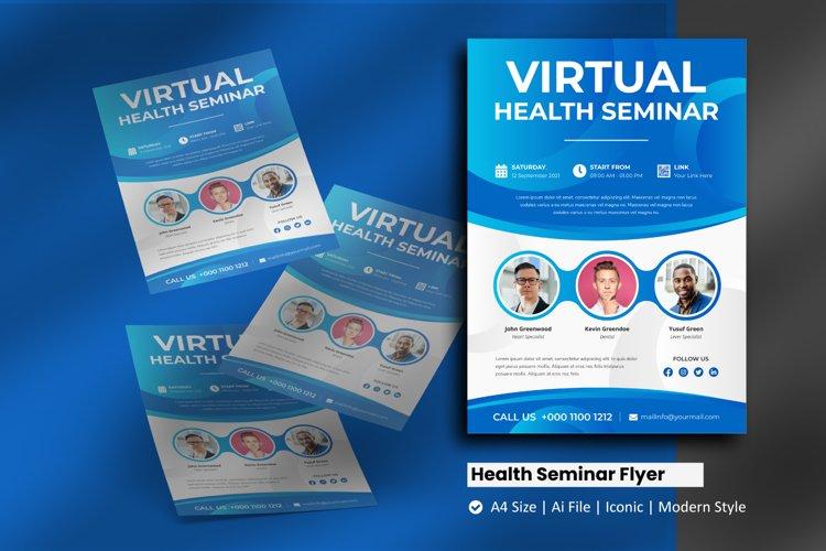 Health Care Seminar Flyer Brochure Template example image 1