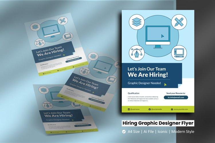 Recruitment Graphic Designer Flyer Template example image 1